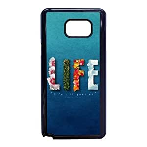 Plastic Durable Cover Samsung Galaxy Note 5 Cell Phone Case Black Rozbp Life It Goes On Durable Phone Case