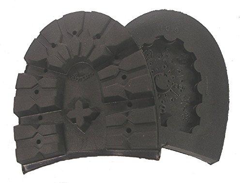 Vibram#100 Montagna Rubber Lug Heel Black Shoe Repair (Size 10) - 1 Pair -