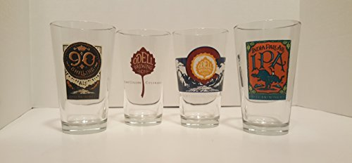 Odell Brewery Beer Glass Set - Set of 4 Pints (Brewery Beer Glasses)