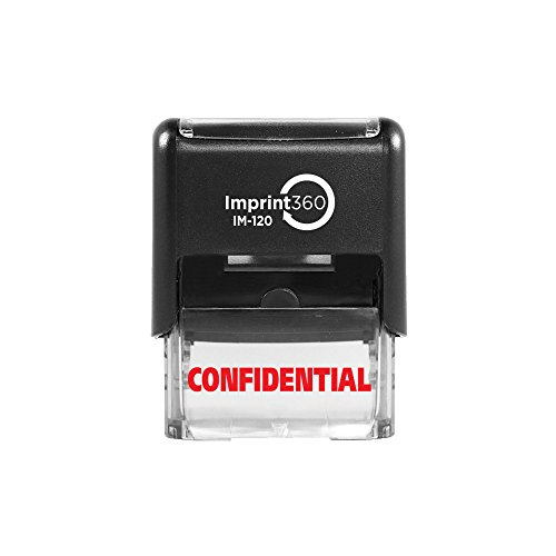Imprint 360 AS-IMP1002 - CONFIDENTIAL, Heavy Duty Commerical Quality Self-Inking Rubber Stamp, Red Ink, 9/16
