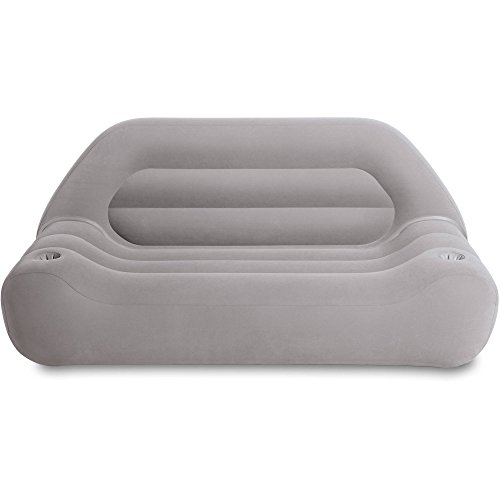 (Inflatable-Couch This Lounge Lounge Blow Up Air Sectional Sofa. Best For Indoor Or Outdoor Use. This Airbed With Comfortable Backrest & Cup, Remote Holder. Is Great As Camping Or Guest)