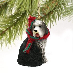 Bearded Collie Miniature Dog Ornament