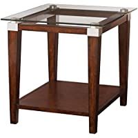 Hammary End Table in Rich Dark Brown Finish