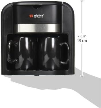 Alpina SF-2819 Coffee Maker Machine, Black