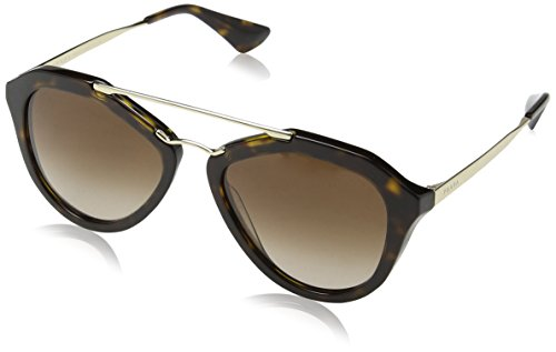 Prada Women's Aviator Sunglasses, Brown/Brown, 54mm (Sunglasses Prada)