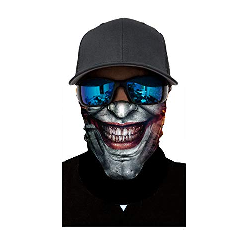 (FEDULK Halloween Party Skull Face Mask Dust Wind Protection Durable Motorcycle Bike Riding Hunting)