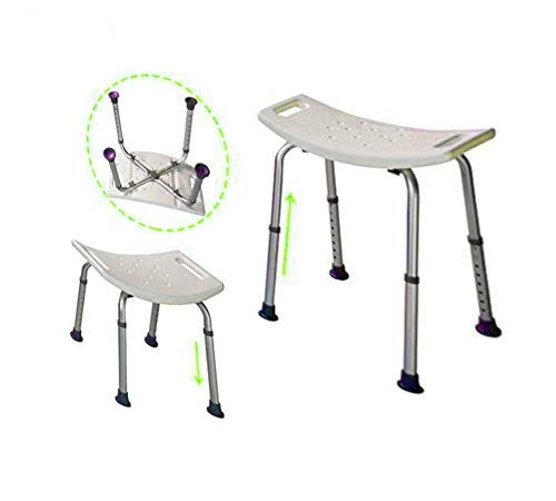 Bariatric Bath Aids - Bariatric Bath Bench Seat Bathroom Tub Chair Handicap Aid Portable Small Stool Adult Size Adjustable Back Helper & eBook by AllTim3Shopping.