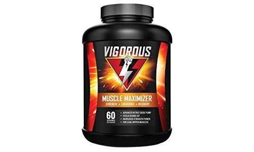 Vigorous Muscle Maximizer- Advanced Nitric Oxide Pump- Focus Burns Fat- Increased Strength Power For Lean Ripped Muscles