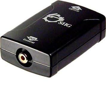 Sigma Toslink-to-Coaxial S/PDIF RCA Negro adaptador de cable - Adaptador