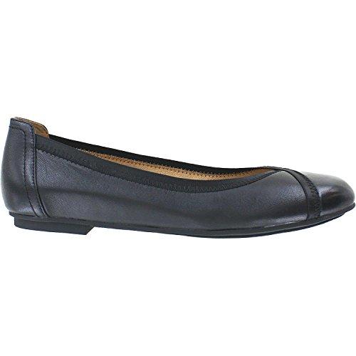 Vionic Womens Spark Caroll Ballet Flat, Black, Size 5