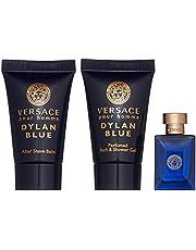 Versace Dylan Blue Mini Gift Set for Men, 3 pieces: Eau de Toilette 5ml + After Shave Balm 25ml + Bath & Shower Gel 25ml