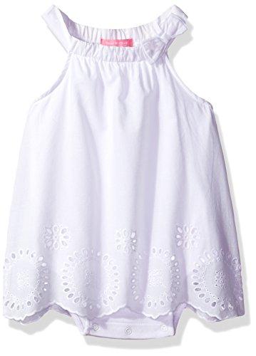 Girls White Eyelet Dress - Isaac Mizrahi Baby Girls' 1 Piece Eyelet Lace Sundress, White Eyelet Lace, 24 Months