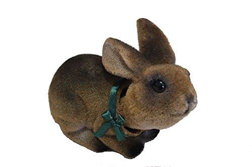 Charming Bobblehead Bunny Rabbit with Car Dashboard Adhesive (Brown) ()