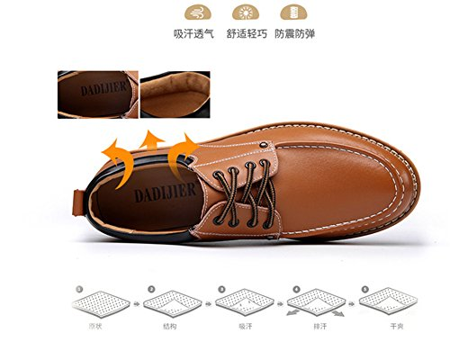Leather Business Leisure End LIYUAN Shoes Parties Shoes Outdoor Shoes High Casual Blue Shoes BIw4Fq8xd