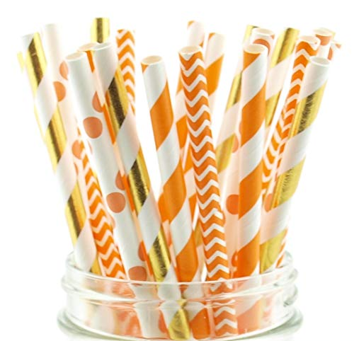 Thanksgiving Dinner Straws (25 Pack) - Fall Leaf