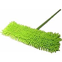 Microfiber Dust Mop with Handle Telescoping Pole Floor Cleaner Noodle Mop (Green)