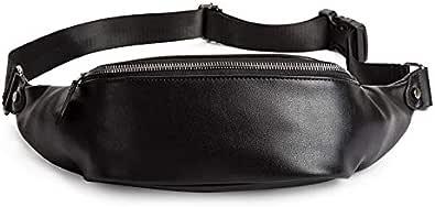 letaowl Bolsos de hombro Moda Soft Pu Leather Men Belt Bag Unisex Bolsos De Cintura Impermeables De Alta Calidad Nuevos Hombres Crossbody Chest Bag Boys Bolsos De Hombro