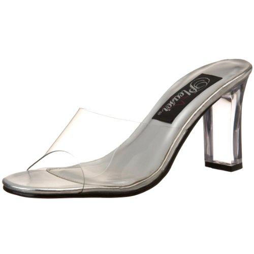 Pleaser Women's Romance-301 Sandal,Clear Lucite,10 M (Lucite Slide)