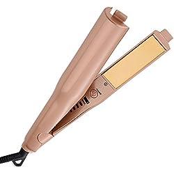 Professional Hair Straightener and Curler 2 in 1 Ceramic Titanium-Plated Flat Iron Salon Tool ¡