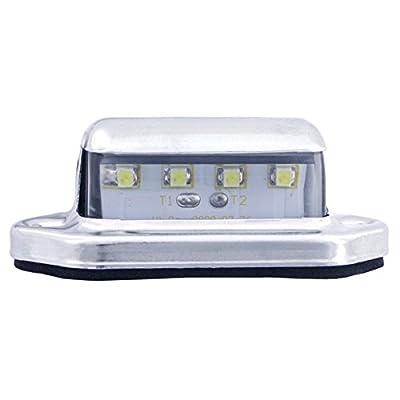 Kaper II L10-0001 White LED License Plate Light: Automotive