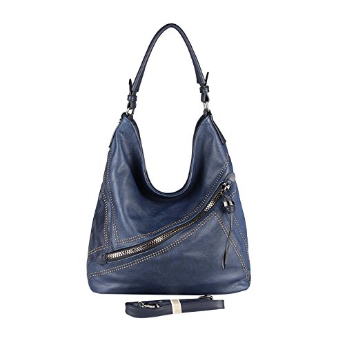 OBC Only-Beautiful-Couture - Bolso al hombro para mujer Rosa Rosa. ca.: 42x34x12 cm (BxHxT) azul oscuro