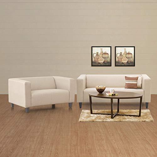 Home Centre Athens 3+2 Sofa Set   Beige