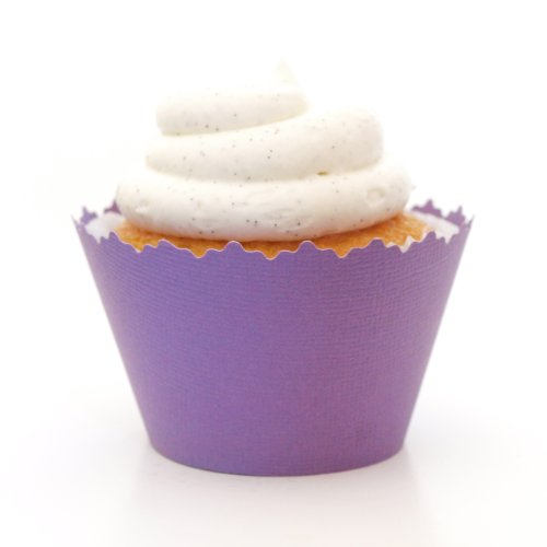 Cupcake Wrappers Solid Colors Adjustable - Set of 12 (Pansy Purple) ()