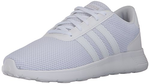 adidas Originals Unisex-Kids Lite Racer Sneakers, White/White/White, (5 M US) - Kid White Shoe Sneaker