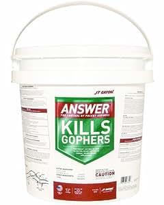 JT Eaton 277 Answer Pocket Gopher Bait Block Moisture Resistant Anticoagulant Bait (Pail of 40)