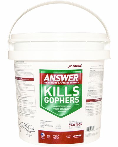 JT Eaton 277 Answer Pocket Gopher Bait Block Moisture Resistant Anticoagulant Bait (Pail of 40)