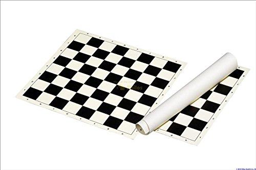 Club & Tournament Standard Vinyl Rollup CHESS BOARD BLACK / WHITE- 2