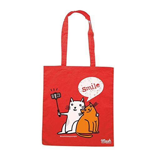 Borsa CATS SELFIE - GATTI - Rossa - DIVERTENTE by Mush Dress Your Style