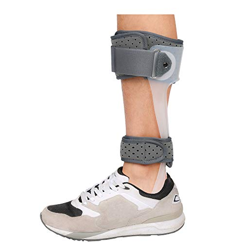 Foot Drop Splint, Furlove AFO Ankle Orthosis Foot Drop Brace Orthopedic Shoe Foot Postural Correction Brace Splint Leaf Stroke Hemiplegia Rehabilitation (Medium, Left)