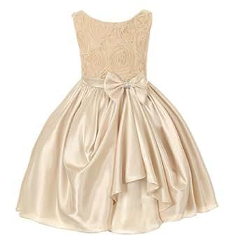 Amazon.com: Kids Dream Girl Champagne Rosette Satin Pick ... - photo #4