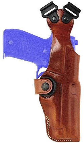 Galco Vertical Shoulder Holster, No Harness - Ambidextrous, Tan, S&W N Fr 29 6in by Galco