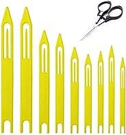 9Pcs Fishing Line Netting Needle Shuttles Fishing Net Line Repair Equipment Size:1# 2# 3# 4# 5# 6# 7# 8#