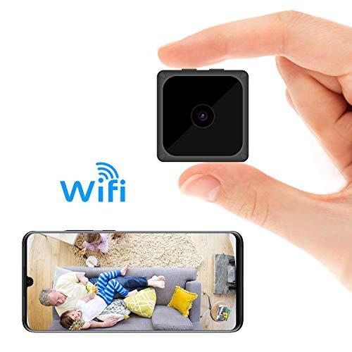 ODLICNO Mini cámara de Seguridad WiFi Inalámbrica Cámara Oculta HD 1080P Mini Cámara Secreta Cámara de niñera Grabadora de Video en Interiores Activada por Movimiento/Visión Nocturn