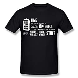 DASY Men's O Neck Doctor Who Tees XX-Large