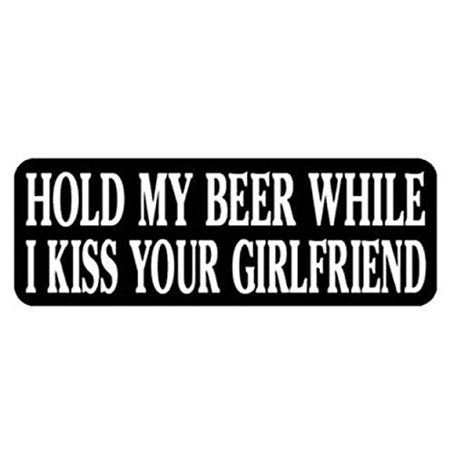 - Hold My Beer While I Kiss Your Girlfriend Helmet Stickers, Artwork Decals, 4