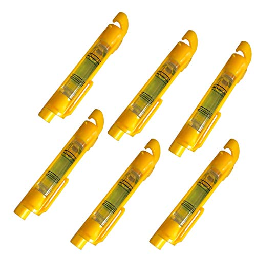 - Finedayqi  Bubble Level, Plastic Pen Line Level for Building Trades(6 Pcs)