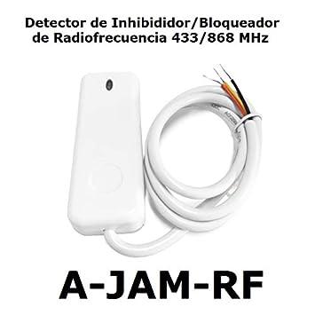 Detector de inhibidores de radiofrecuencia 433/868 MHz, Sensor de detección de interferencia o Bloqueo de señal, Detector Anti-inhibición