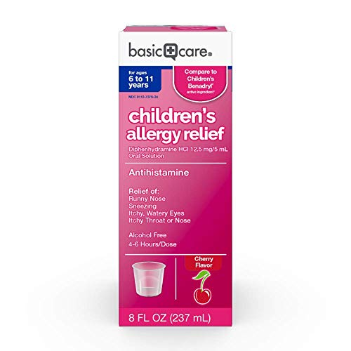 Basic Care Children's Allergy Relief Diphenhydramine HCl Oral Solution, 8 - Relief Oral Solution