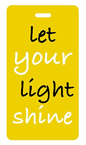 (Luggage Tag Christian Theme (Yellow) Let Your Light)