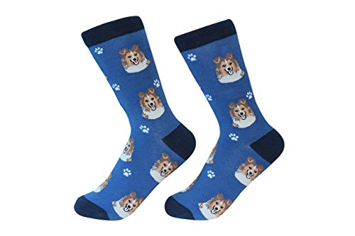 (Shetland Sheepdog Sheltie Dog Breed Socks Unisex Sock Daddy by E&S Pets)