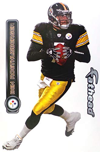 FATHEAD Ben Roethlisberger Pittsburgh Steelers Official NFL Vinyl Wall Graphic 17