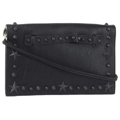 Betsey Johnson Total Tonal Clutch Bag - Black