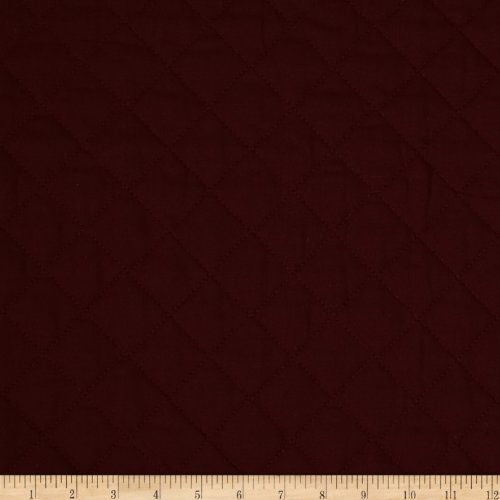 Fabri-Quilt 0269126 Double Sided Quilted Broadcloth Burgundy Fabric by The Yard,