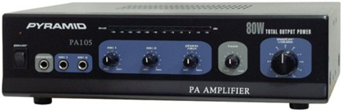 Pyramid PA105 Amplifier With Microphone Input (80-Watt)