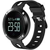ZIMINGU Smart Watch Heart Rate IP68 Waterproof Bluetooth Sports Smart Bracelet Fitness Tracker with Sleep Blood Pressure Monitor for Android Phone and iPhone (Black)
