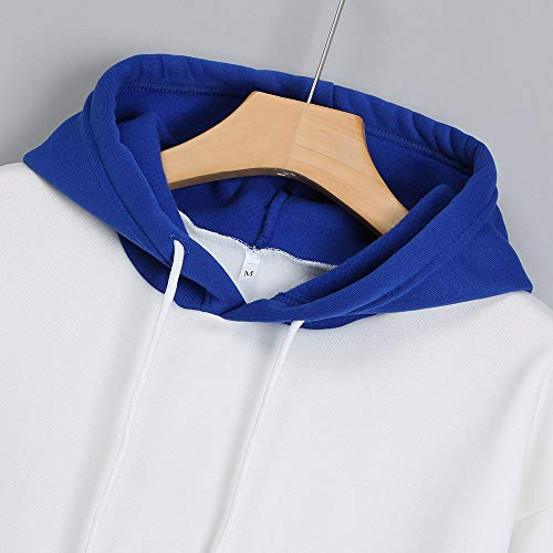 Outdoors Outwear Coat Pocket WNGO Thicker Tactical Jackets Women Breathable Size Pattern Thickening Hoodie Printed Women Slim Sweatshirt Large Letter Pullover Blue Warm Windproof Tops Blouse Parka xgzxTqp
